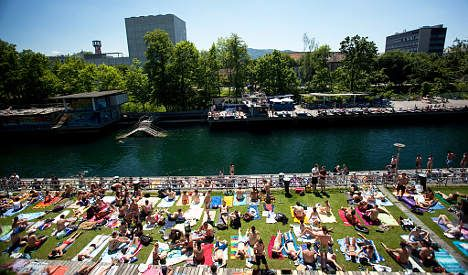 Switzerland swelters in August heat wave