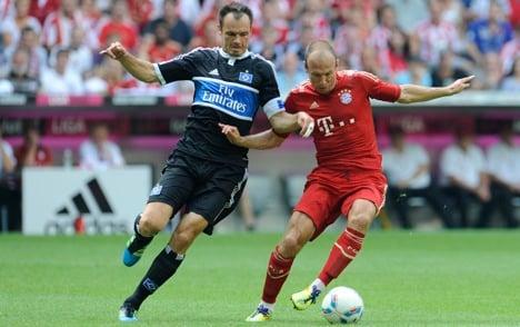 Bayern blast 5-0 past hapless Hamburg