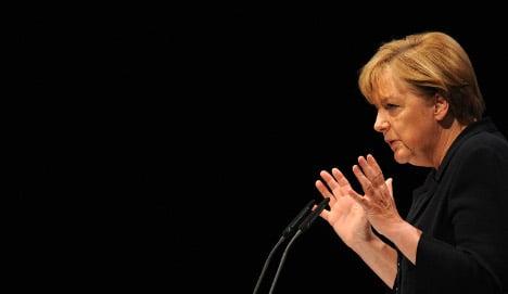 Merkel emphasizes 'no' to eurobonds, for now