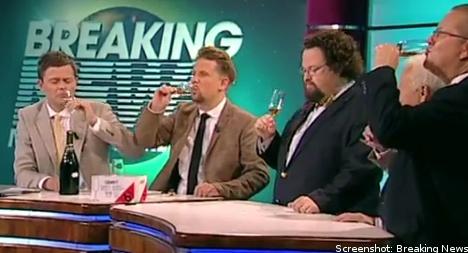 Swedish TV duo quaff Hitler champagne in Kamprad tribute