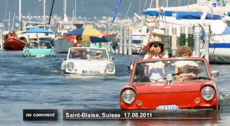 Off the road: Swiss play host to amphibious vehicles