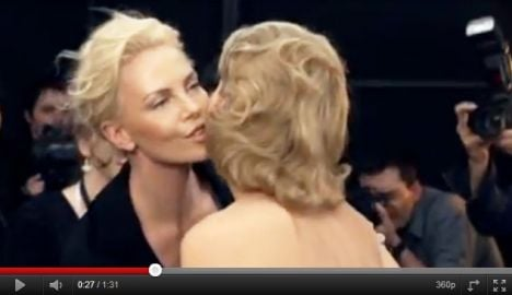 Charlize Theron makes quick change in new Dior ad