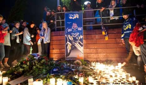 Sweden mourns death of beloved hockey star
