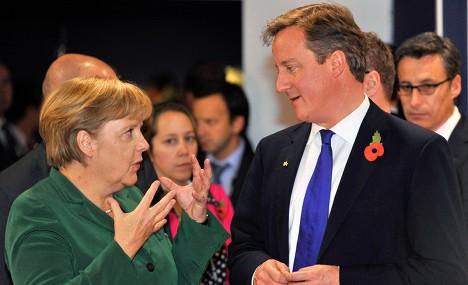 Merkel hosts UK's Cameron amid EU rifts