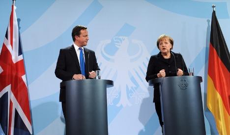 Merkel and Cameron struggle to show unity