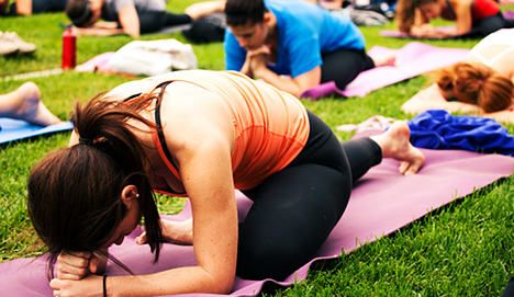 Full-blast yoga lands woman with fine