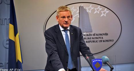 Bildt: Sweden backs Balkans' EU push