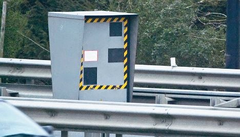 Angry driver blows up speed camera