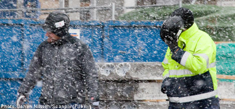 Sweden braces for freezing rain, snow