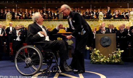 Laureates accept Nobel prizes in Stockholm