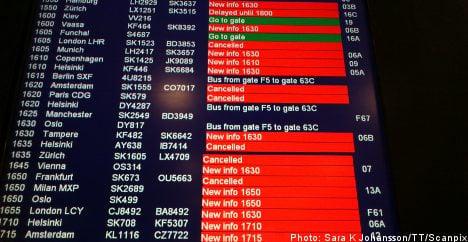 Delays at Arlanda airport after blackout