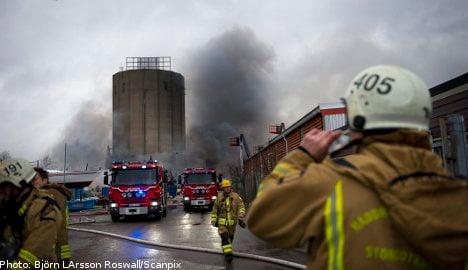 Massive fire ravages Gothenburg boat yard