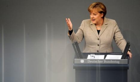 Merkel sees birth of 'true political union' in Europe