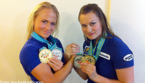 Women arm wrestlers bring home the gold