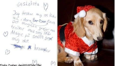 Swedish kids ask Santa for pets and phones