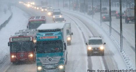 Warnings as winter storm heads toward Sweden