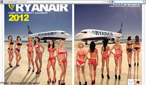 Swedes aghast over Ryanair bikini calendar