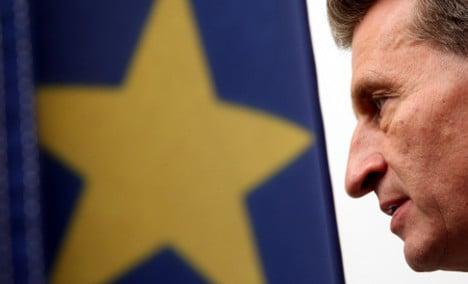 German Commissioner calls for eurobonds