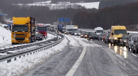 Winter storm 'Joachim' snarls transport