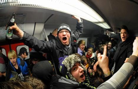 50 trains damaged in Munich's 'farewell drink'