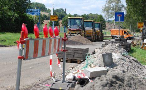Germans rage against the road works
