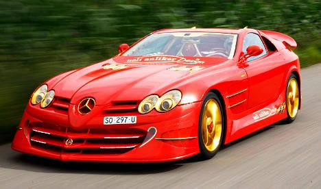 Swiss designer wants $11 million for red-and-gold 'dream' car