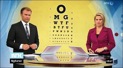 OMG: Eye test  blooper on Norwegian news