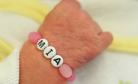 'Mia' and 'Ben' favourite baby names of 2011