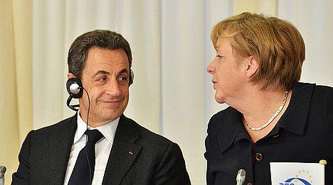 Sarkozy and Merkel meet to heal rift in euro unity