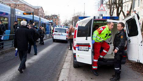 Three tram conductors stabbed in Oslo