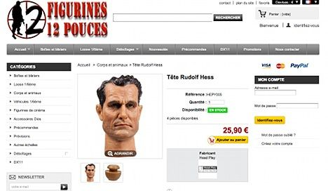 Nazi figurines for sale on French website