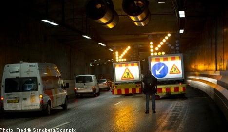 Errant drill penetrates Stockholm tunnel