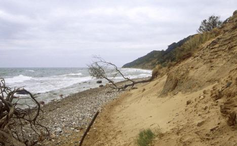 Gigantic crack spooks officials on Baltic island