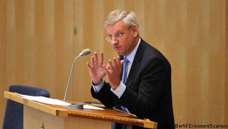 Bildt wants Sweden to be 'world power': WikiLeaks