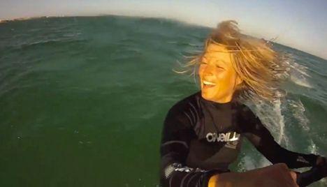 Windsurf champion begins Atlantic crossing