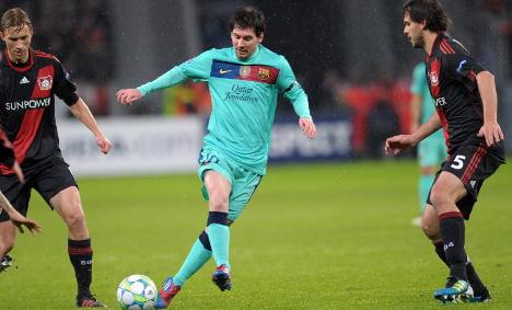 Barca beat Leverkusen