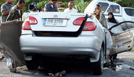 Four young Swedes dead in Thai car crash