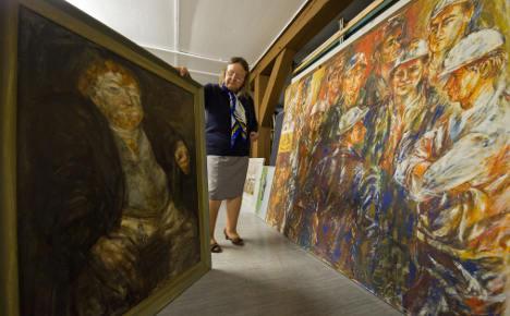East German propaganda art gathers dust