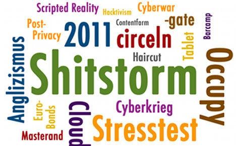 Shitstorm 'best English gift to German language'