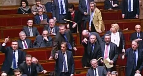 Angry MPs storm out after 'Nazi' taunt