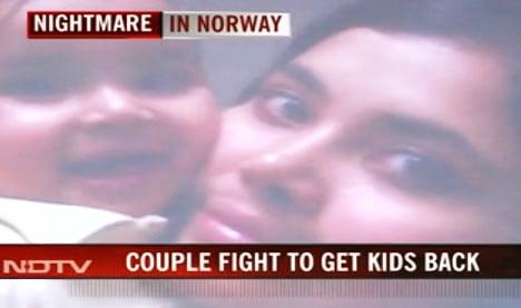 Indian grandparents in 'Norway nightmare' demo