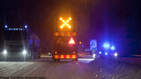 Ice and snow cause motorway mayhem