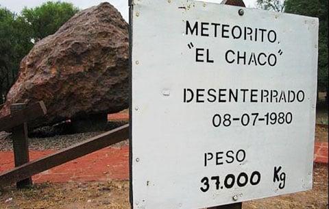 Arty Argentine meteorite exhibit falls to earth