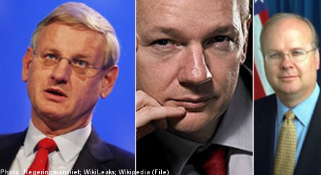 WikiLeaks smear effort to reveal Bildt as US 'spy'