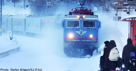 'Too cold' for trains in northern Sweden