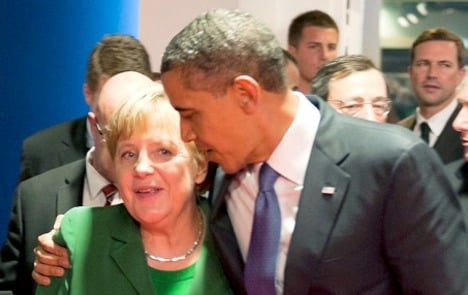 Obama praises Merkel's euro crisis leadership