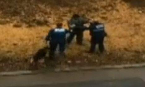 Policeman attacks motorist: video