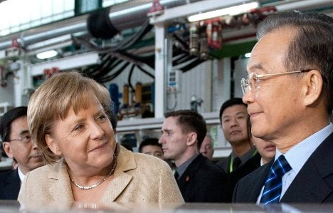 China offers Merkel some comfort for Europe