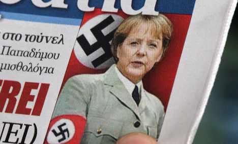 Greek Nazi Merkel photos 'trivialise' holocaust