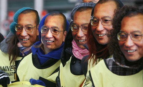 Celebrity support for Chinese Nobel dissident